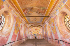 Banska Stiavnica - The fresco of Ascension of the Lord on  Holy Stairs in the middle church of baroque calvary Stock Photos