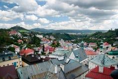 Banska Stiavnica - historical center and calvary hill Stock Images