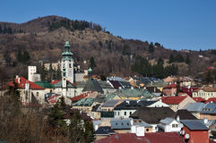 Banska Stiavnica historical mining town Slovakia Royalty Free Stock Photo