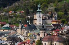 Banska Stiavnica historical mining town Slovakia Royalty Free Stock Image