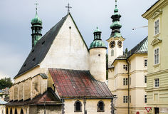 Banska Stiavnica historical mining town Slovakia Stock Images
