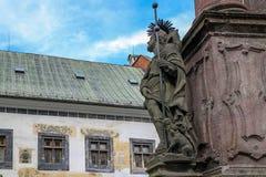 Banska Stiavnica historisk bryta town Slovakien Arkivfoto