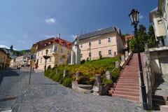 Banska Stiavnica, interseções em fotos de stock royalty free