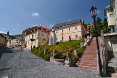 Banska Stiavnica, intersections at Royalty Free Stock Photos