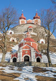 Banska Stiavnica - The middle and superior church baroque calvary built in years 1744 - 1751 Stock Photo