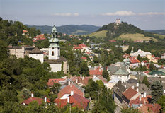 Banska Stiavnica - Old castle and calvary hill Stock Images