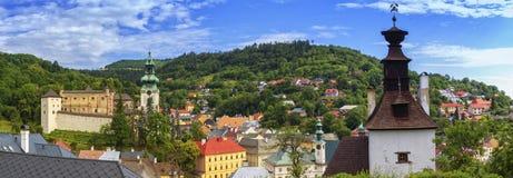 Banska Stiavnica panoramic view, Slovakia Stock Photos