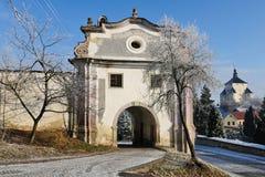Banska Stiavnica - Piarg gate Stock Photography