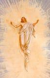 Banska Stiavnica - The Resurrected Christ fresco in the middle church of baroque calvary Royalty Free Stock Photo