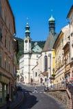 Banska Stiavnica, Sistani - centrum miasto Obraz Royalty Free