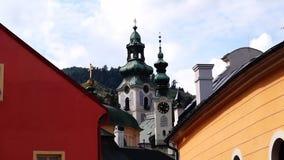 Banska Stiavnica stock video footage