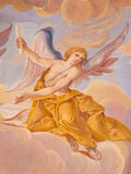 BANSKA STIAVNICA, SLOVAKIA - FEBRUARY 20, 2015: The detail of angel from the fresco on cupola in the middle church of calvary Stock Photo