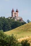 Banska Stiavnica - Slovakia. Stiavnica's Calvary. Banska Stiavnica, Slovakia - august 06, 2015: Stiavnica's Calvary is one of the most beautiful baroque royalty free stock image