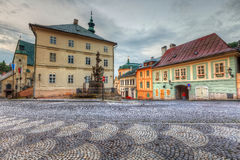 Banska Stiavnica, Slovakia. Town hall in the main square of the old town of Banska Stiavnica, Slovakia. HDR image stock photography