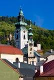 Banska Stiavnica, Slowakije Stock Foto's