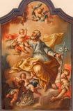 Banska Stiavnica - St. Joseph baroque paint in parish church Royalty Free Stock Photo