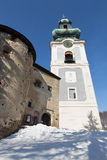 Banska Stiavnica - tower of Old castle. Royalty Free Stock Images