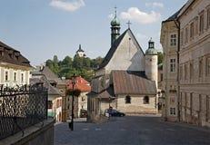 Banska Stiavnica - Trinity square Stock Images