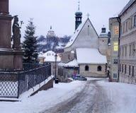 Banska Stiavnica in winter Stock Photos