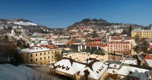 Banska Stiavnica in winter, panorama Slovakia Stock Images