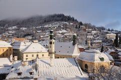 Banska Stiavnica in winter, Slovakia Stock Images