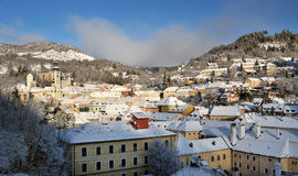 Banska Stiavnica in winter, Slovakia Stock Photography