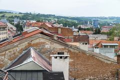 banskabystrica slovakia royaltyfria bilder
