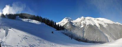 bansko保加利亚山坡白色 免版税库存图片