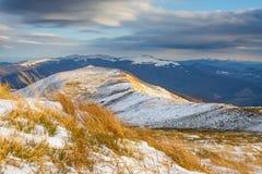bansko保加利亚横向山冬天 图库摄影