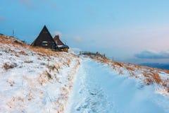 bansko保加利亚横向山冬天 免版税库存照片