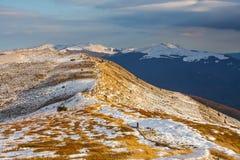 bansko保加利亚横向山冬天 库存照片
