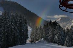bansko bulgary手段滑雪 免版税库存图片