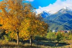 Bansko, montagnes panorama, Bulgarie de Pirin Photos libres de droits