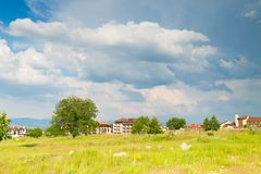 Bansko. One of the views of Bansko, Bulgaria in summer time Stock Image
