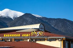 Bansko ski station, cable car lift Royalty Free Stock Photography