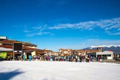 Bansko ski station, cable car lift, Bulgaria Stock Photos