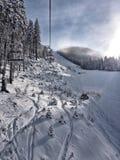 Bansko skidar semesterorten Arkivfoton