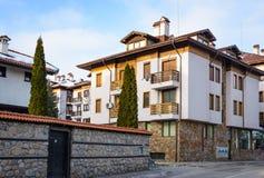 Bansko streets in Bulgaria royalty free stock photos