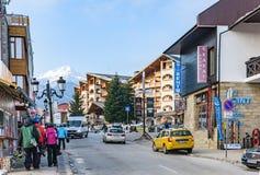 Bansko streets in Bulgaria stock photo