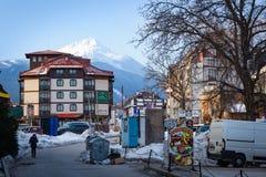 Bansko streets in Bulgaria stock image