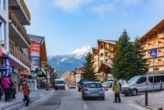 Bansko streets in Bulgaria stock photography