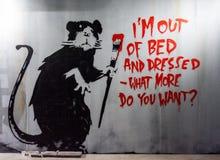 Banksy Graffiti Art. The world of Banksy .