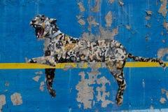 Bansky maluje w Miasto Nowy Jork jako rezydentura - yankee stadium wewnątrz Fotografia Royalty Free