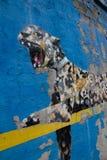 Bansky maluje w Miasto Nowy Jork jako rezydentura - yankee stadium wewnątrz Fotografia Stock