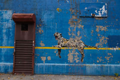 Bansky paints in New York City as residency - Yankee Stadium in. Bronx, NY - 30TH October 2013: front view of Bansky's Better Out Than In - An artist residency Royalty Free Stock Photo