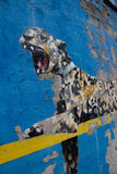 Bansky paints in New York City as residency - Yankee Stadium in Stock Photography