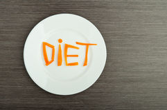 Banta begreppet. planlägg mat. Fotografering för Bildbyråer