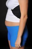 banta den feta överviktiga tidkvinnan Royaltyfri Foto
