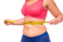 banta fet kvinna royaltyfri fotografi