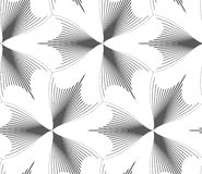 Banta gråa kläckte pointy trefoils Arkivfoton